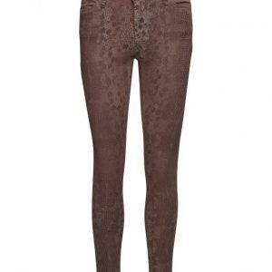 Please Jeans Catwoman Brown Snake skinny farkut