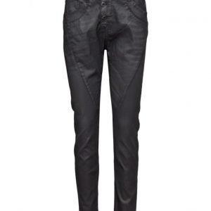 Please Jeans Classic Coat Nero suorat farkut