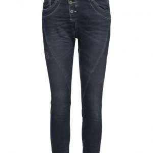 Please Jeans Classic Dark Blue Holes suorat housut