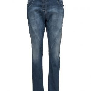 Please Jeans Fine Flap Black Denim suorat farkut