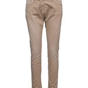 Please Jeans Fine Flap Cotton Sandstone suorat farkut