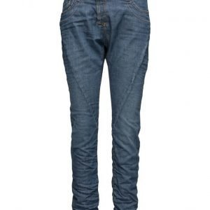 Please Jeans Fine Flap Soft Blue Denim suorat farkut