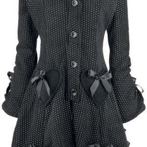 Poizen Industries Alice Coat Polka Naisten Pitkä Talvitakki