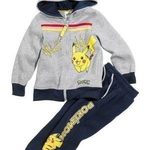 Pokémon Svetarisetti Mel. harmaa Tummansininen