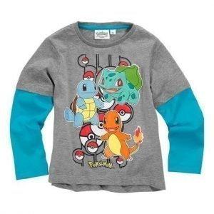 Pokémon T-paita Mel. harmaa