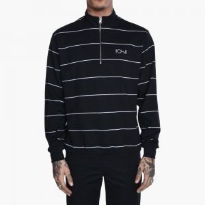 Polar Skate Co. Striped Zip Neck