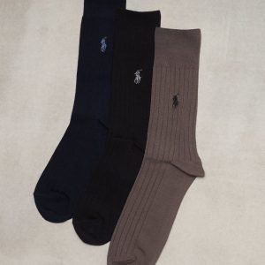 Polo Ralph Lauren 3-pack Egyptian Cotton Rib Socks Sukat Multicolor