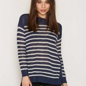 Polo Ralph Lauren Boatneck Side Slit Sweater Neulepusero Navy / Cream