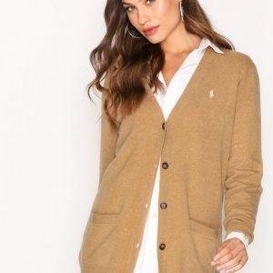 Polo Ralph Lauren Boyfriend Cardigan Long Sleeve Neuletakki Camel