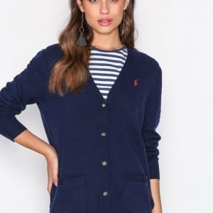 Polo Ralph Lauren Boyfriend Cardigan Long Sleeve Neuletakki Navy