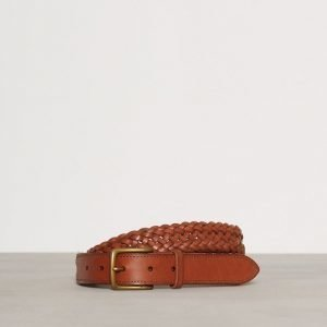 Polo Ralph Lauren Braid Dress Casual Belt Vyö Whiskey