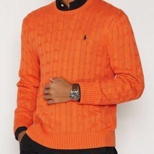 Polo Ralph Lauren Cabelknit Sweater Pusero Oranssi
