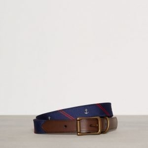 Polo Ralph Lauren Casual Smooth Leather Belt Vyö Navy/Red