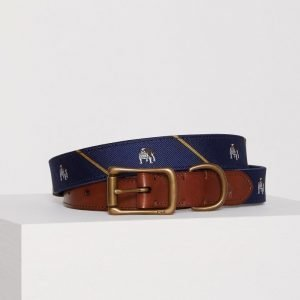 Polo Ralph Lauren Casual Smooth Leather Belt Vyö Navy/Yellow
