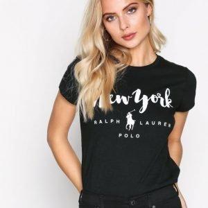 Polo Ralph Lauren City Short Sleeve Knit Tee T-Paita Black