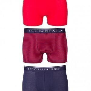 Polo Ralph Lauren Classic 3-Pack Trunk Bokserit Navy/Red