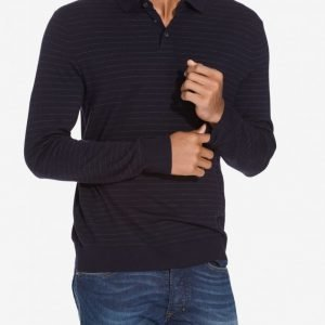 Polo Ralph Lauren Classic Long Sleeve Sweater Pikeepaita navy/white