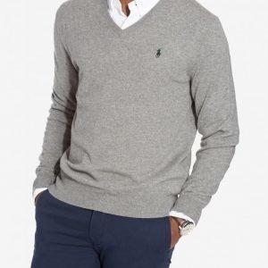 Polo Ralph Lauren Classic Merino Knit Pusero Grey