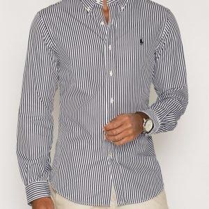 Polo Ralph Lauren Classic Poplin Slim Fit Shirt Kauluspaita Musta/valkoinen