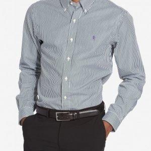 Polo Ralph Lauren Classic Poplin Slim Fit Shirt Kauluspaita Valkoinen/vihreä