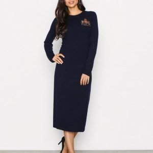 Polo Ralph Lauren Crew Neck Casual Dress Mekko Navy