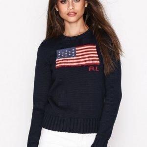 Polo Ralph Lauren Crew Neck Long Sleeve Sweater Neulepusero Navy