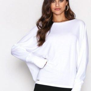 Polo Ralph Lauren Drapey Top Long Sleeve Pitkähihainen Paita Pure White