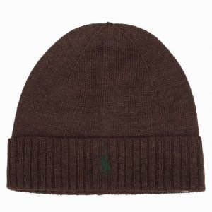 Polo Ralph Lauren Fold-Over Hat W Pipo Dark Brown