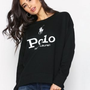 Polo Ralph Lauren Graphic Crew Neck Fleece Knit Svetari Black