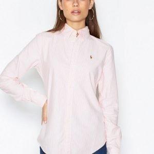 Polo Ralph Lauren Harper Long Sleeve Shirt Kauluspaita Vaaleanpunainen / Valkoinen