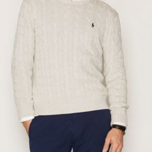 Polo Ralph Lauren LS Cable Cotton Sweater Pusero Light Grey