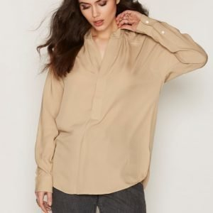 Polo Ralph Lauren Long Sleeve Blouse Arkipaita Beige