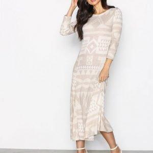Polo Ralph Lauren Long Sleeve Dress Pitkähihainen Mekko Beige