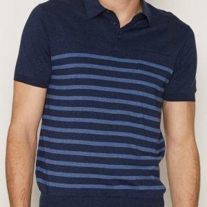 Polo Ralph Lauren Placket Short Sleeve Sweater Pikeepaita Navy
