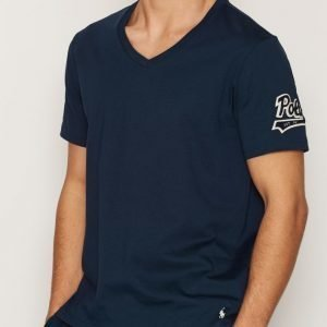 Polo Ralph Lauren S/S V-Neck Sleep Top Loungewear Navy
