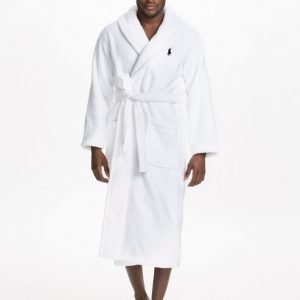 Polo Ralph Lauren Shawl Collor Robe Kylpytakki White