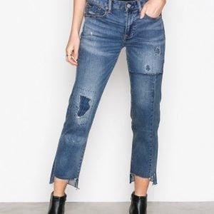 Polo Ralph Lauren Waverly Alaina Wash Cropped Jean Straight Farkut Indigo