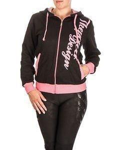 Power Hoodie W Black/Pink