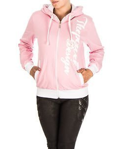 Power Hoodie W Pink/White