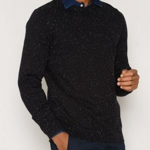 Premium by Jack & Jones Jpraiden Knit Crew Neck Neulepusero Musta