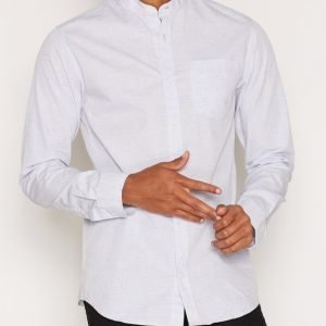 Premium by Jack & Jones Jprben Shirt L/S One Pocket Kauluspaita Vaaleanharmaa