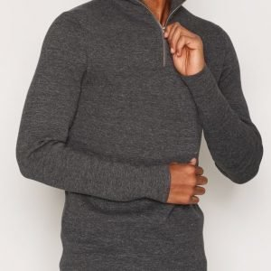 Premium by Jack & Jones Jprbenny Knit Turtle Zip Neulepusero Tummanharmaa