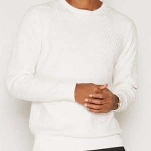 Premium by Jack & Jones Jprbumpy Knit Crew Neck Pusero Offwhite