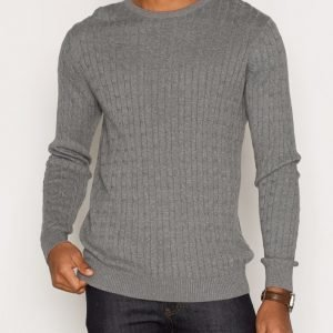 Premium by Jack & Jones Jprcarlson Knit Crew Neck Pusero Grey Melange