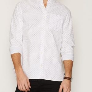Premium by Jack & Jones Jprdavid Print Shirt L/S Kauluspaita Valkoinen