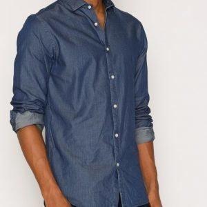 Premium by Jack & Jones Jprivy Shirt L/S Plain Kauluspaita Tummansininen
