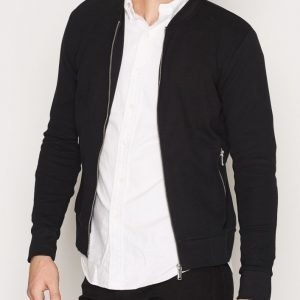 Premium by Jack & Jones Jprjason Sweat Zip Baseball Neck Pusero Musta