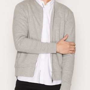 Premium by Jack & Jones Jprjason Sweat Zip Baseball Neck Pusero Vaaleanharmaa