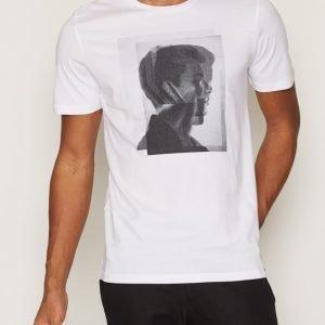 Premium by Jack & Jones Jprkeith Tee Ss Crew Neck T-paita White