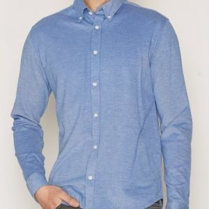 Premium by Jack & Jones Jprknit Oxford Shirt L/S Plain Kauluspaita Sininen